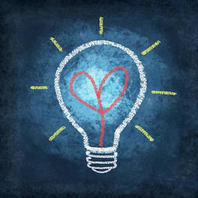 Designs Similar to Heart In Light Bulb