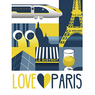 Designs Similar to Love Paris  by Claire Huntley