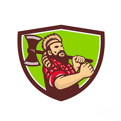 Designs Similar to Lumberjack Axe Shield Retro