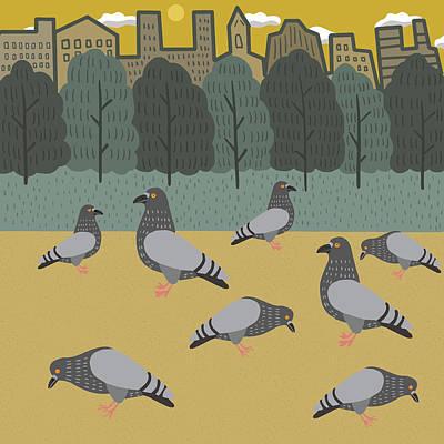 Pigeon Digital Art