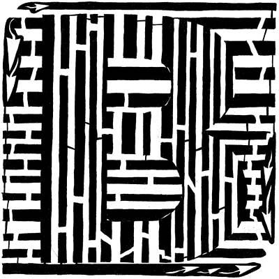 Alphabet Mazes Art