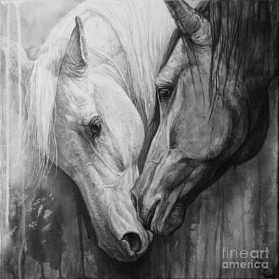 White On Black Paintings
