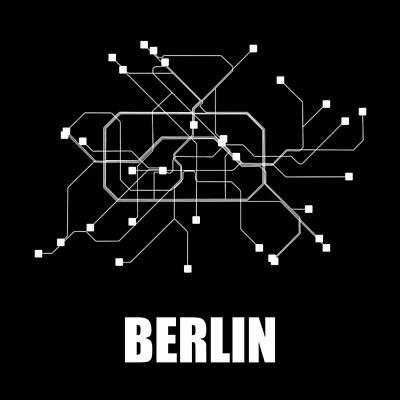Designs Similar to Berlin Black Subway Map
