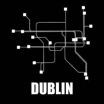 Designs Similar to Dublin Black Subway Map