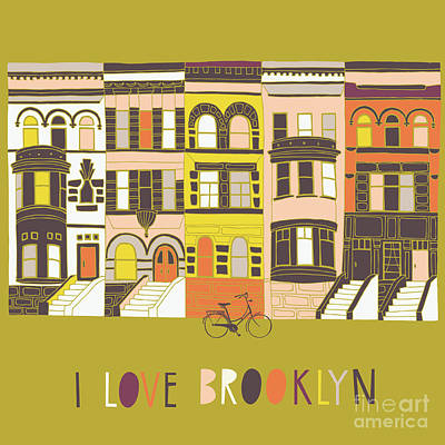Designs Similar to I Love Brooklyn Print Design 1
