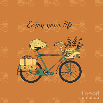 Designs Similar to Vintage Bicycle Illustration