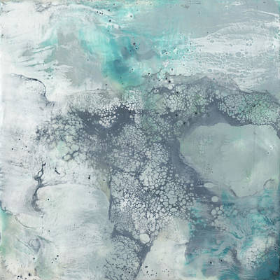 Abstract Encaustics Art