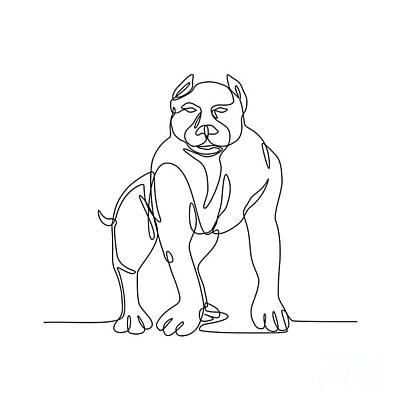 Designs Similar to American Bully Continuous Line