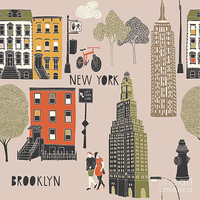 Designs Similar to Brooklyn Seamless Pattern