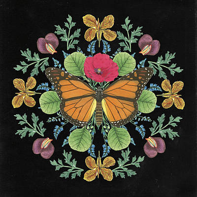 Designs Similar to Butterfly Mandala I Black