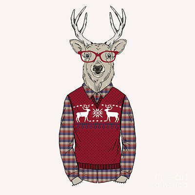 Designs Similar to Deer Man Dressed Up In Jacquard