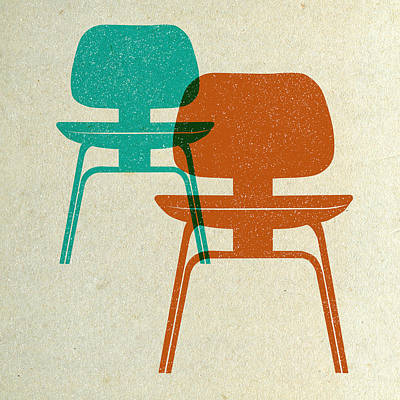 Designs Similar to Mid Century Chairs Print I