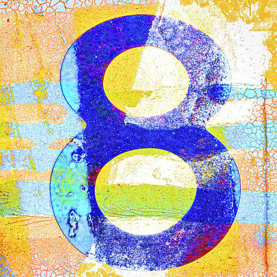 Designs Similar to Number 8 In Yellow And Blue
