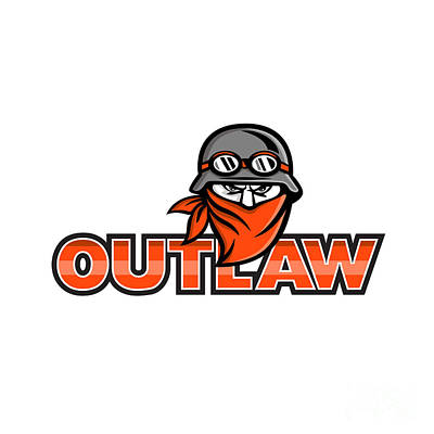 Designs Similar to Outlaw Biker Angry Mascot