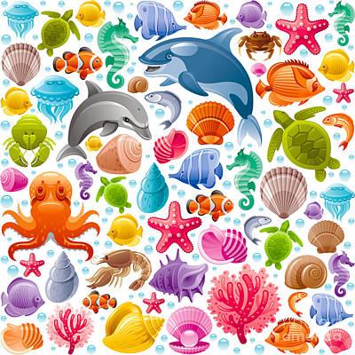 Reef Diving Digital Art