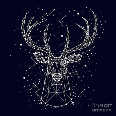 Designs Similar to Starry Sky, Constellation, Deer