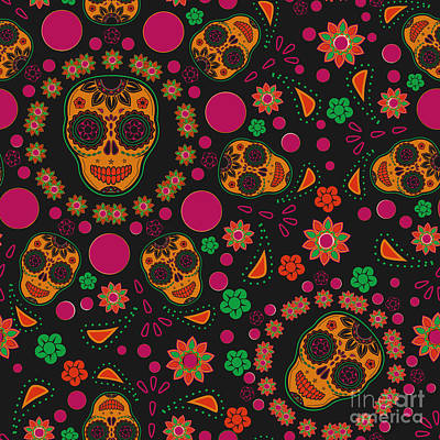 Designs Similar to Sugar Skull Seamless Pattern