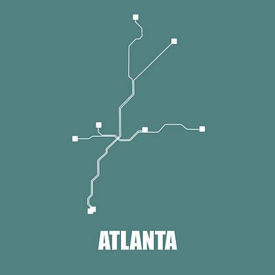 Designs Similar to Teal Atlanta Subway Map