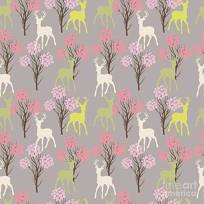 Designs Similar to Trees And Deer.seamless