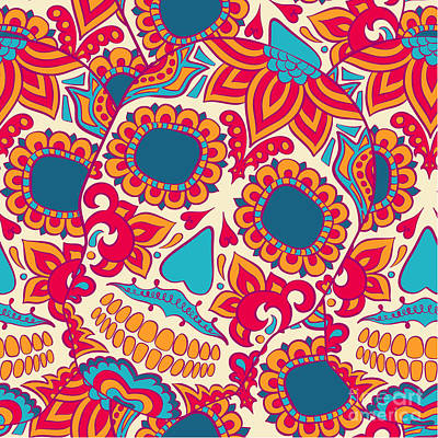 Designs Similar to Vector Skull Seamless Pattern