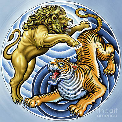 Designs Similar to Wild Lion And Tiger  by Gull G