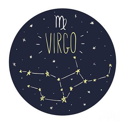 Designs Similar to Zodiac Signs Doodle Set - Virgo