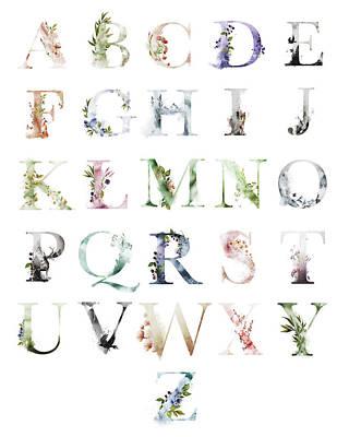 Alphabet Art Prints