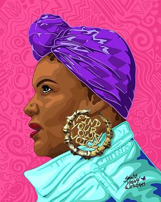 Digital Art - Find Your Own Voice by Shonte Young Williams