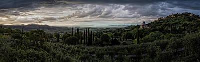 Photograph - Tuscan Twilight by Millner Stephanie