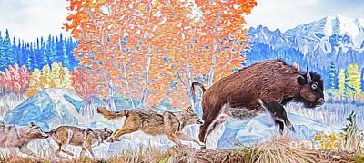 Digital Art - The Hunt by Ray Shiu