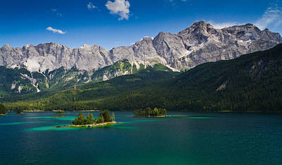 Photograph - Eibsee under the mighty Zugspitze by Sheri Vitullo