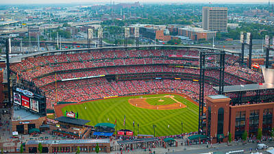 Photograph - Busch Stadium Day at the Cardinals Ballgame  by Jeff Landis
