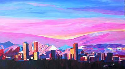 Denver Sunset Paintings