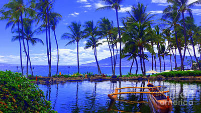 Photograph - Outrigger Hawaii by Todd Hummel