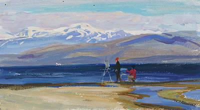 Painting - Blue Baikal by Victoria Kharchenko