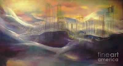 Drawing - Denver 2050 by Michael Schuessler