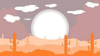 Digital Art - Desert Sun by Donald Rogers