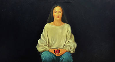 Painting - Eve in Sweatshirt by John Entrekin