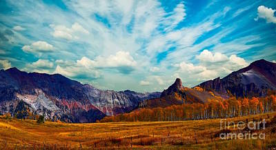Photograph - San Juan Mountains- Telluride Colorado by Sherry Little Fawn Schuessler