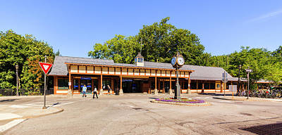 Photograph - The railroad station in Scarsdale by Alex Potemkin