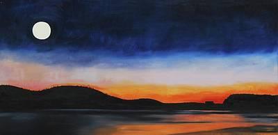 Painting - Wolf Moon Sunrise by Lynda Diamond