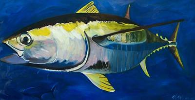 Painting - Yellowfin Tuna by Monika Urbanska