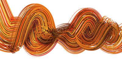 Brown Red Digital Art