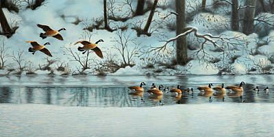 Painting - January Snow by Guy Crittenden