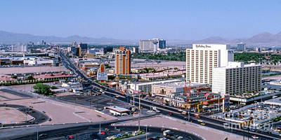 Photograph - Las Vegas Strip 1980's North Arial View by Aloha Art