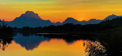 Photograph - Oxbow Bend Fisherman by Cameron Knudsen