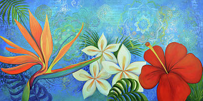 Painting - Paradise in Bloom I by Shadia Derbyshire