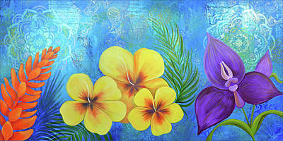 Painting - Paradise in Bloom II by Shadia Derbyshire