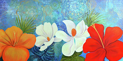 Painting - Paradise in Bloom III by Shadia Derbyshire