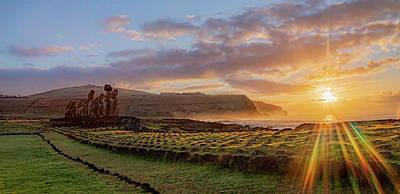Photograph - Rapa Nui Sunrise by Millner Stephanie